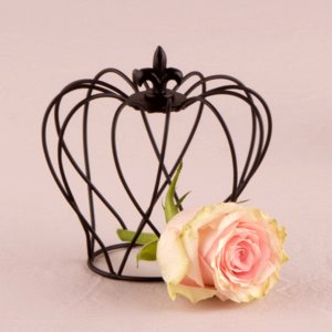 黒ワイヤー製の王冠 クラウン 4個セット|yourstylewedding