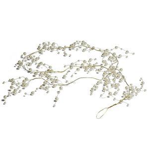 パールとゴールドワイヤーのガーランド 装飾 素材 デコレーション|yourstylewedding