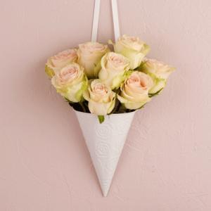結婚式 挙式 バージンロード チェアフラワー 装花用 フラワーコーン|yourstylewedding