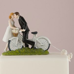 ケーキトッパー 自転車でキス サイクリング ウエディング 結婚式 正規代理店|yourstylewedding