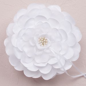 リングピロー 花 フローラル ホワイト|yourstylewedding