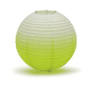 ペーパーランタン ちょうちん 30cm グラデーション アップルグリーン 黄緑 緑|yourstylewedding