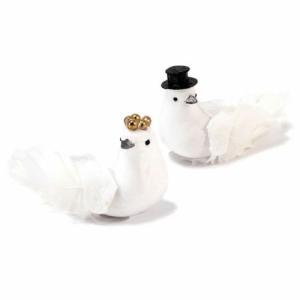 鳥の新郎新婦 デコレーション用 6個セット|yourstylewedding
