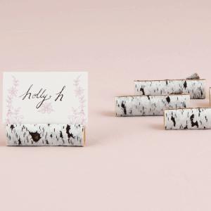 カード立て カードスタンド 白樺の小枝型 6個セット|yourstylewedding