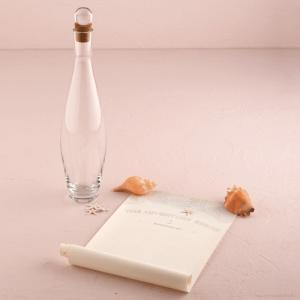 ビーチウエディング用 ゲストブック 結婚式 芳名帳 立会人署名用紙 ガラスボトル型|yourstylewedding