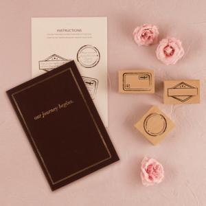 ゲストブック 結婚式 芳名帳 立会人署名用紙 パスポート型 スタンプ付き|yourstylewedding