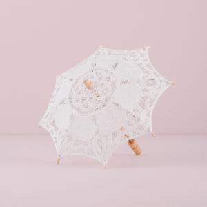 日傘 レース パラソル ミニサイズ ホワイト 結婚式 撮影 前撮り用|yourstylewedding