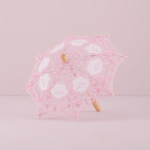 日傘 レース パラソル ミニサイズ ピンク 結婚式 撮影 前撮り用|yourstylewedding