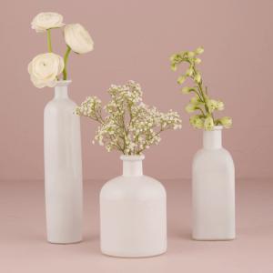 装飾用びん ホワイト 3種類セット デコレーション用 ボトル|yourstylewedding