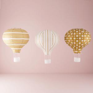 ペーパーランタン 熱気球型 3柄セット|yourstylewedding