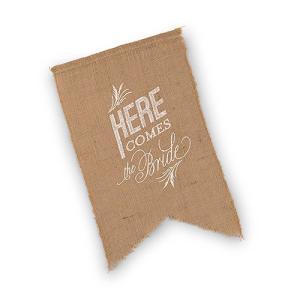 結婚式のDown The Aisle Sign アウトドアウエディングに ジュートに白文字|yourstylewedding