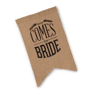結婚式のDown The Aisle Sign アウトドアウエディングに ジュートに黒文字|yourstylewedding