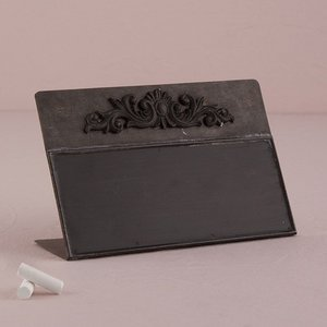 金属製の黒板 自立型チョークボード サインボード 卓記号 Mサイズ|yourstylewedding