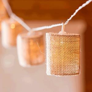 LED イルミネーション ジュートの傘 ランプ 10球 ライト 単3 電池|yourstylewedding