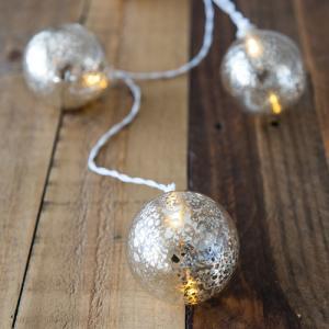 LED イルミネーション マーキュリーガラス ミニランプ 10球 ライト 単3 電池|yourstylewedding
