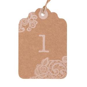 テーブル番号 卓記号 エスコートカード クラフト紙 12枚連番セット クリックポスト対応|yourstylewedding