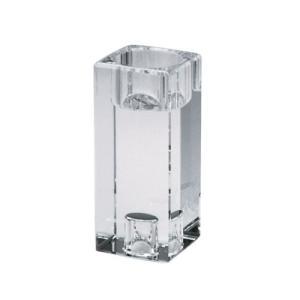 キャンドルホルダー ガラス製 キャンドルスタンド テーパーキャンドル ティーライト両用 クリスタ キューブ L|yourstylewedding