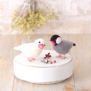ハマナカ フェルトキット アクレーヌでつくる桜文鳥と白文鳥 H441-526|yousaihoriuchi