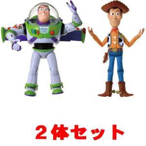 送料無料 バズ+ウッディ 2体セット トイ・ストーリー4 リアルサイズトーキングフィギュア バズライ...