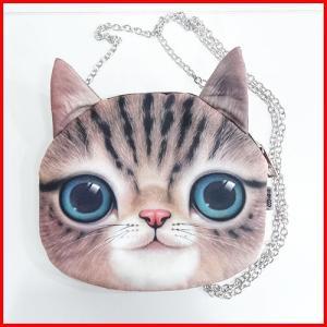 幸せを運ぶ リアルフェイスショルダーバッグ 猫・ベンガル|yousay-do