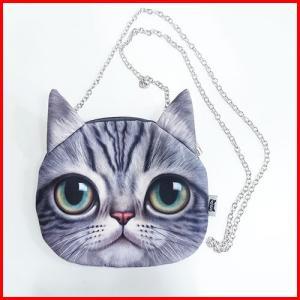 幸せを運ぶ リアルフェイスショルダーバッグ 猫・アメリカンショートヘアー|yousay-do