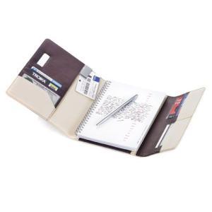 TROIKA トロイカ A5手帳とボールペンのセット DIN A5手帳カバー 観音開き カプチーノ|yousay-do