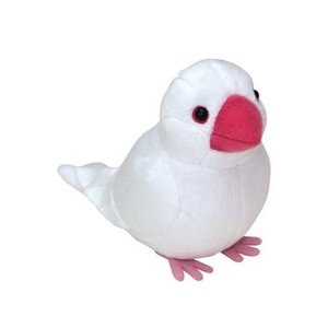 コトリコレクション 文鳥 ぬいぐるみクリップ ホワイト|yousay-do