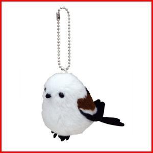 日本の動物 シマエナガ ぬいぐるみマスコット 4905610802357|yousay-do