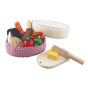 ポイント10倍! 森のあそび道具 木と布のコラボ 手作りおべんとう 木製玩具 知育玩具 ベビートイおままごとセット エドインター|yousay-do