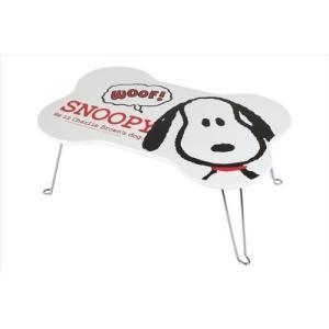 SNOOPY スヌーピー 木製ダイカットミニテーブル ホネ型 4961971400885|yousay-do