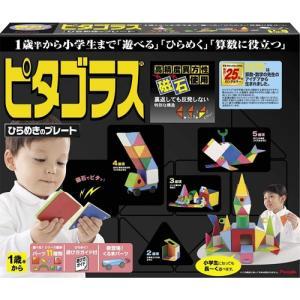 ピタゴラスひらめきのプレート 【1才半以上用 知育玩具 ブロック つみき パズル 図形 磁石 立体 ...
