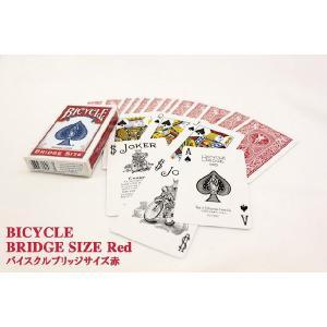 トランプカード バイスクル ライダーバック ブリッジサイズ 赤/レッド