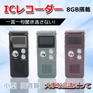 ICレコーダー ボイスレコーダー 8GB 小型 CL-R30 スピーカー 内蔵メモリ ICボイスレコーダー 高音質 録音機 長時間