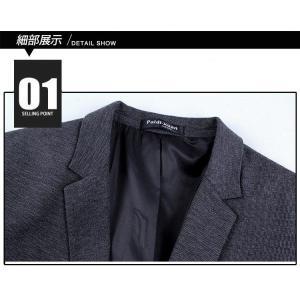 テーラードジャケット メンズ 春 秋 大きいサイズ ビジネススーツ ジャケット 長袖 無地 スーツ ビジネスコート アウター 紳士用 カジュアルコート 送料無料|youyamashopping|04