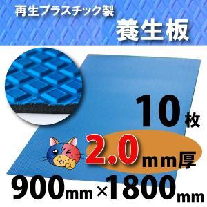 【ワニ印】ダイヤボード(RPボード)無発泡養生プラスチックベニヤ板・青<2mm厚>900×1800mm【10枚】《送料無料》【54.000円以上ご購入で3%値引き】(005000)|youzyou