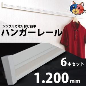 ハンガーレール[機能性長押・なげし]1200mm×55×16 6本セット 壁に取り付けるダケ簡単設置【送料無料】002838|youzyou