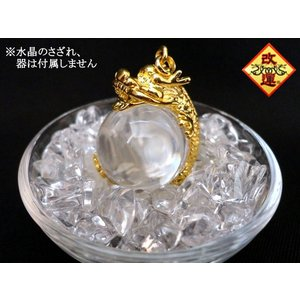 天然水晶玉に絡みつく龍|yowado