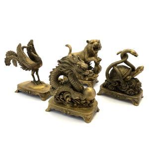 四神の銅製置物 四神セット yowado 02