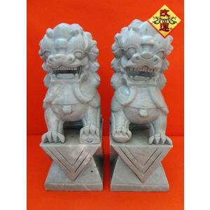 獅子の置物 一対 石製 大|yowado