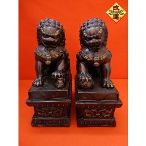 獅子の置物 一対 銅製|yowado