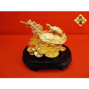 龍亀 ロングイの置物 金色|yowado