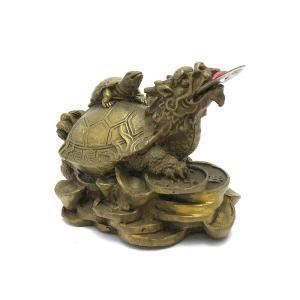 龍亀 ロングイの置物 小|yowado|08