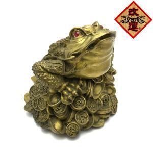 三本脚の蛙 蟾蜍 せんじょの置物 大|yowado