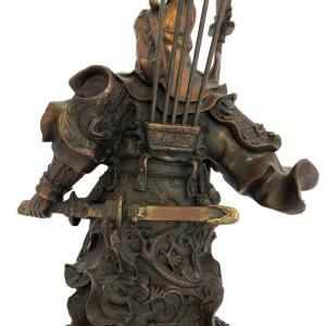 関羽様の神像 古銅色 大 |yowado|15