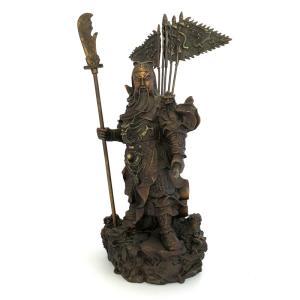 関羽様の神像 古銅色 大 |yowado|04