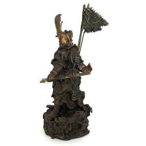 関羽様の神像 古銅色 大 |yowado|05