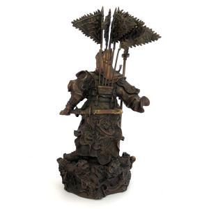 関羽様の神像 古銅色 大 |yowado|06