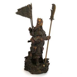 関羽様の神像 古銅色 大 |yowado|07