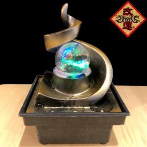 招財龍穴水盤 天壇型 レインボー水晶玉付き|yowado