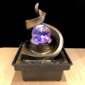 招財龍穴水盤 天壇型 レインボー水晶玉付き|yowado|02